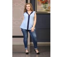 Блузка Сенди голубая НМ111-4