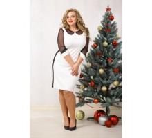 Платье Марни чёрно-белое НС 90015