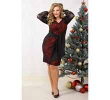 Платье София красное НС 90018
