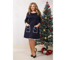 Платье Шик т-синее НС 90020