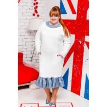 Платье белое МОДА100135.1