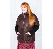 Женская куртка коричневая МОДА000099.2
