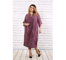 Бисквитное платье с шифоном ККК173-0708-1