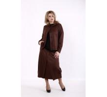 Шоколадный костюм: длинная юбка и кофта КККD16-01742-2