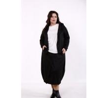 Черный костюм: длинная юбка и кофта КККD17-01742-1