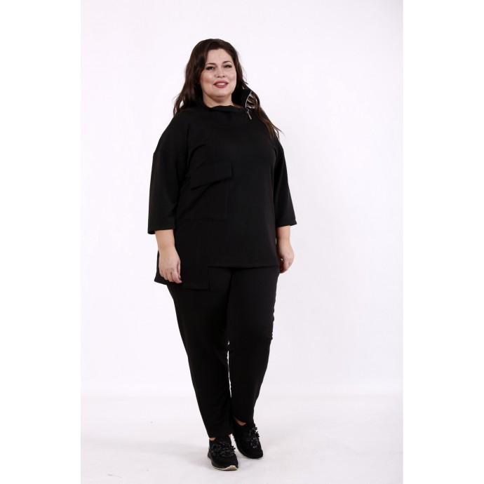 Черный спортивный костюм КККD27-01738-1