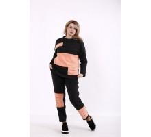 Черно-розовый спортивный костюм КККD28-01737-2