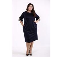 Синее прямое платье КККD41-01732-2