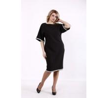 Черное свободное платье КККD43-01731-3