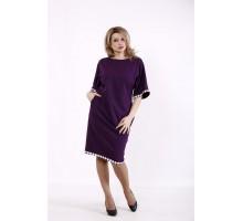 Фиолетовое свободное платье КККD44-01731-2