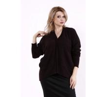 Шоколадная блузка из ангоры КККD9-01745-3