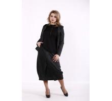 Темно-серый костюм: длинная юбка и кофта КККD15-01742-3