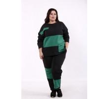 Черно-зеленый спортивный костюм КККD29-01737-1