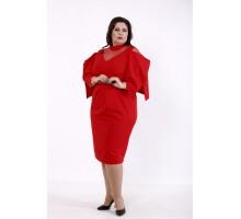 Алое платье летучая мышь КККD13-01744-2