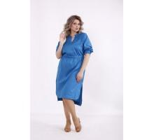 Голубое стрейчевое платье КККC0015-01514-3