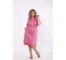 Малиновое стрейчевое платье КККC0016-01514-2