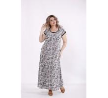 Длинное платье с зеленым принтом КККC0022-01512-2