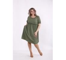 Зеленое платье в горошек КККC0033-01508-3