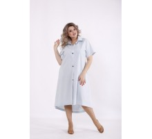 Голубое платье-рубашка КККC0042-01505-3