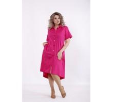 Малиновое платье-рубашка КККC0043-01505-2