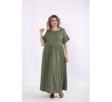 Зеленое платье в горох КККC0045-01504-3