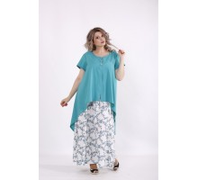 Бирюзовый комплект: платье и накидка КККC0048-01503-3