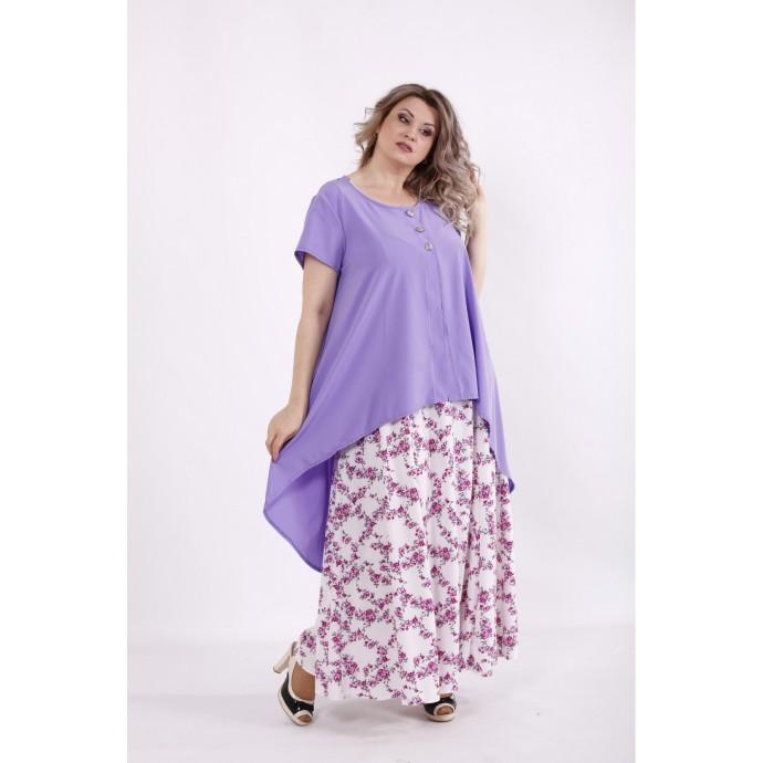 Сиреневый комплект: платье и накидка КККC0049-01503-2