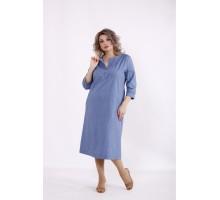 Голубое однотонное платье КККC0054-01500-3