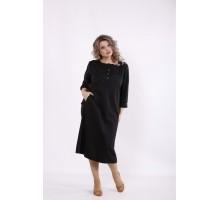 Черное однотонное платье КККC0055-01500-2
