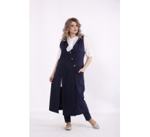 Синий костюм: брюки и жилетка КККC0057-01499-3