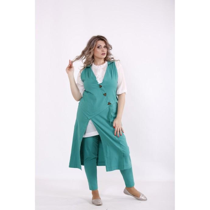 Зеленый костюм: брюки и жилетка КККC0058-01499-2