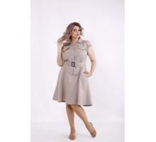 Платье мокко с пышной юбкой КККC007-01517-2