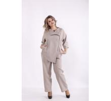 Бежевый костюм: брюки и пиджак КККC0061-01498-2