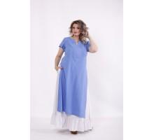 Льняной комплект: голубая туника и юбка КККC0066-01496-3