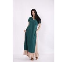 Льняной комплект: зеленая туника и юбка КККC0068-01496-1