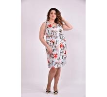 Платье голубой принт 42-74 размер ККК362-0476-1