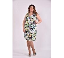 Платье принт зеленый 42-74 размер ККК361-0476-2