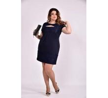 Синее платье 42-74 размер ККК354-0478-3