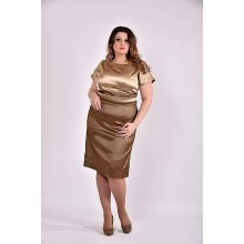 Платье 42-74 размер ККК352-0479-2 горчица