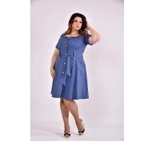 Платье 42-74 размер ККК347-0481-1 джинс