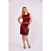 Бордовое платье 42-74 размер ККК344-0482-1