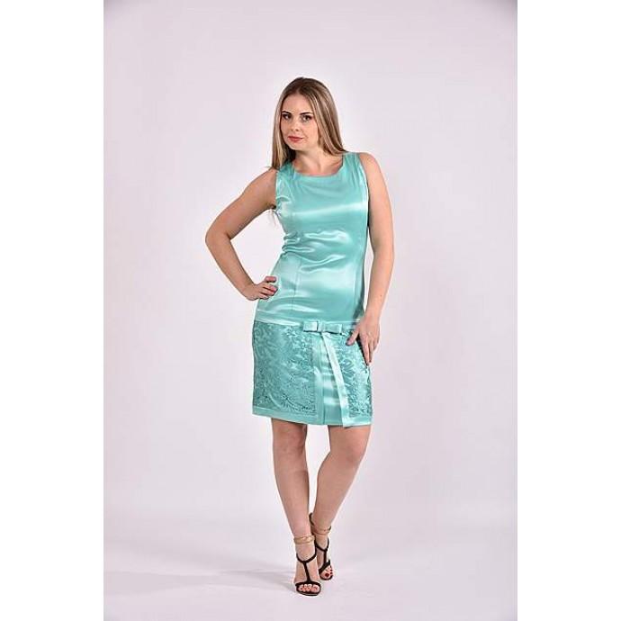 Платье бирюза 42-74 размер ККК342-0482-3