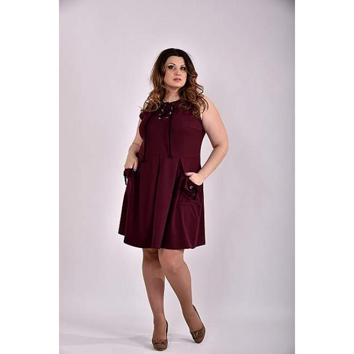 Бордовое платье 42-74 размер ККК336-0484-3