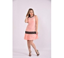 Персик платье 42-74 размер ККК323-0490-2