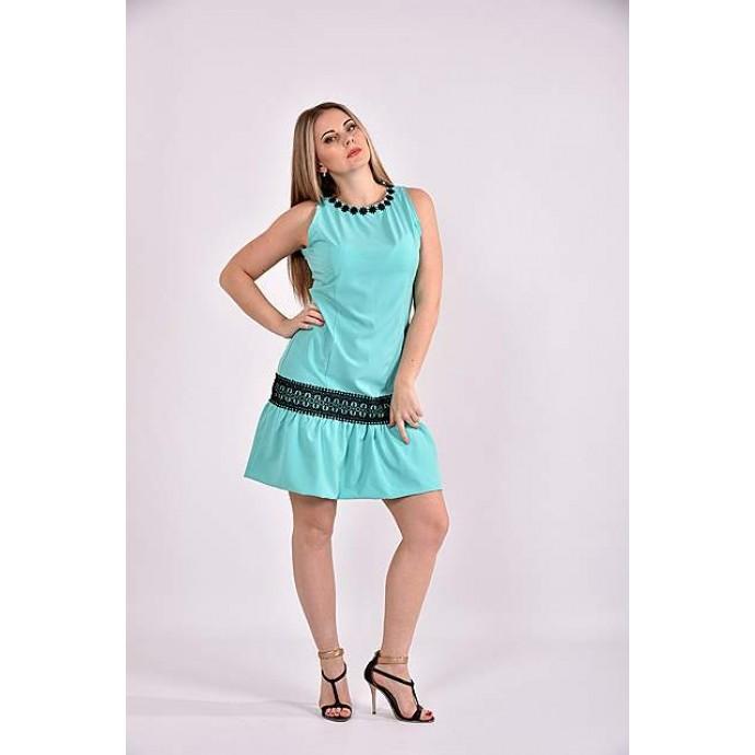 Платье ментол 42-74 размер ККК321-0490-3
