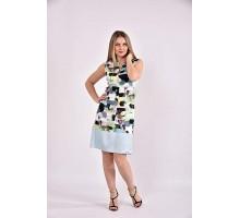 Платье зеленый принт 42-74 размер ККК318-0491-3