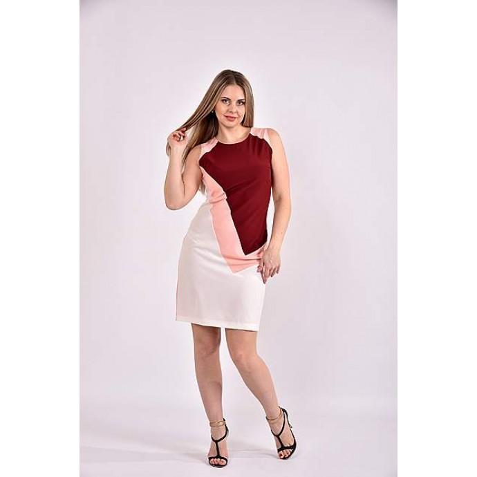 Платье персиковое 42-74 размер ККК315-0492-3