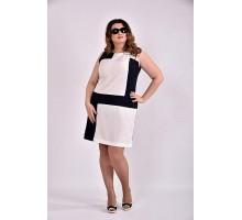 Платье белое с синим 42-74 размер ККК313-0493-2