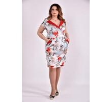 Платье голубой принт 42-74 размер ККК38-0495-1