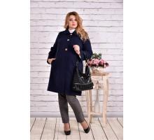 Синее кашемировое пальто ККК9920-t0614-2